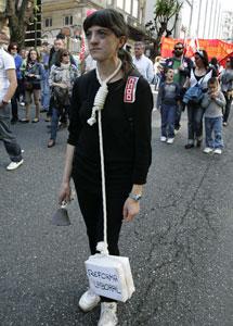 Una de las 'víctimas' de la reforma laboral.   R.G.