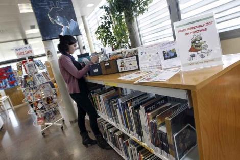 Espacio 'fanzinero' en la Biblioteca Municipal Josep Badia de L'Ametlla del Vallès. | Quique García
