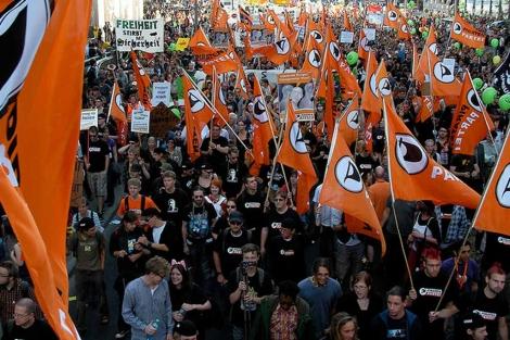 Manifestación del Partido Pirata en Alemania. | Michael Vogel