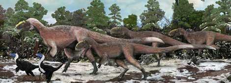 Recreación de los dinosaurios emplumados de Liaoning. |Nature