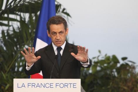 El presidente francés, Nicolas Sarkozy, en Saint Pierre. | Reuters