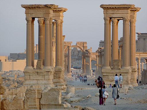 Columnas en Palmyra, que era uno de los referentes turísticos en Siria. | S. P. L.