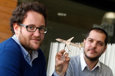 Iñaki Uriz y Jose Luis Vilar, creadores de la web. | Quique García