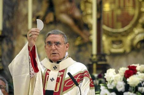 Sistach, en una misa oficiada en Barcelona. | Quique García