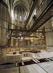 Las obras de la catedral.  Nuria González