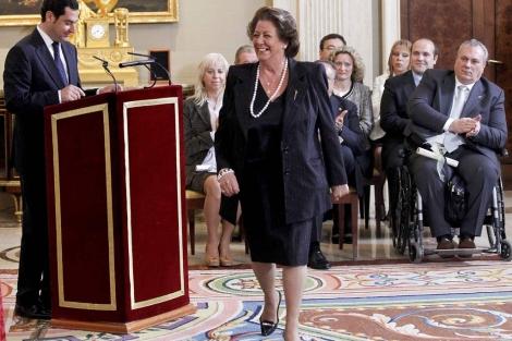 La alcaldesa de Valencia, Rita Barberá, en la entrega de premios. | Chema Moya