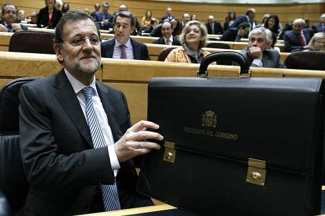 Rajoy, este martes en el Senado. | Efe
