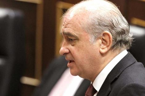 El ministro del Interior, Jorge Fernández Díaz, en el Congreso. | Efe