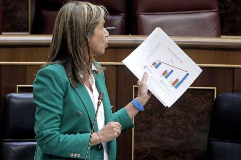 La ministra de Sanidad, Ana Mato, durante la sesión de control en el Congreso. | Efe