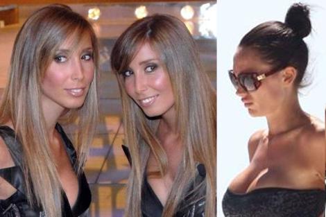 Las gemelas Eleonora e Imma De Vivo, y Nicole Minetti. | 'Corriere della Sera'