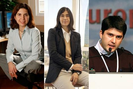 Nuria Oliver, María Blasco y Javier García Martínez. | E.M.