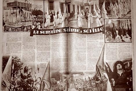 La doble página publicada en 'Voila' el 4 de abril de 1936. | Editorial Almuzara