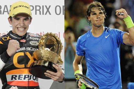 Marc Márquez y Rafa Nadal, dos ejemplos de talentos precoces.| Reuters | Efe