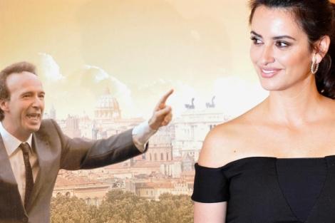 Los actores Roberto Benigni y Penélope Cruz. | Afp