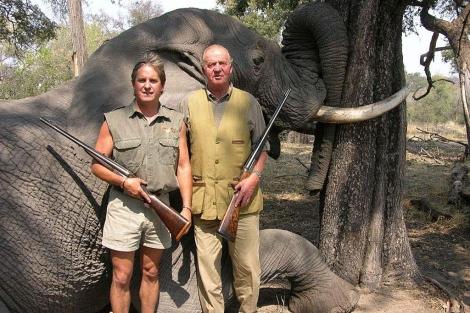 Imagen del Rey publicada en la web de la empresa Rann Safaris.