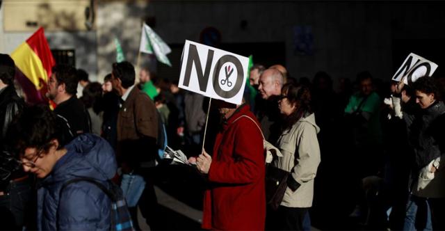 Protesta en Madrid. | Javier Barbancho