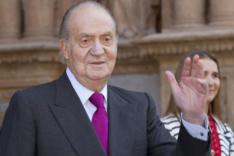 El Rey, el pasado 8 de abril en Palma de Mallorca. | Efe
