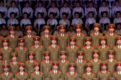 Una exhibición musical en un teatro de Pyongyang, capital de Corea del Norte. | Afp