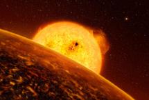 Recreación de un planeta extrasolar.
