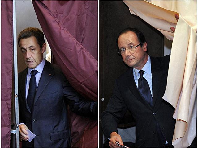 Nikolas Sarkozy y François Hollande, en sendas imágenes de archivo.   Afp