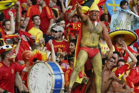 Hinchas de 'La Roja' en el Mundial de Sudáfrica.   Reuters