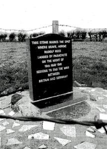 El lugar donde aterrizó Hess.