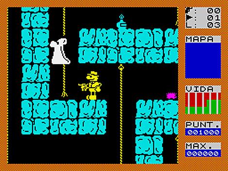Pantalla de Fred para Sinclair ZX Spectrum (1983)