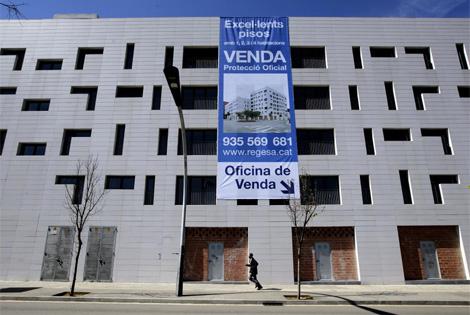 Uno de los inmuebles protegidos prácticamente vacíos, en el barrio de Torre Baró.   A. Moreno