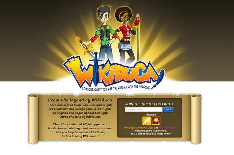 Home provisional de 'Wikiduca', el proyecto valenciano preseleccionado por Ycombinator.