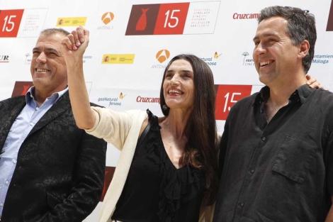 Equipo de la película 'Memorias de mis putas tristes'. | J. Domínguez