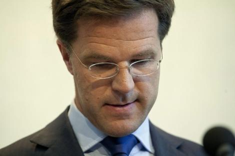 Mark Rutte, cuando anunció que dimitiría.  Efe/Phil Nijhuis
