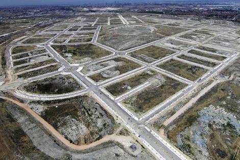 Imagen aérea de los terrenos del nuevo desarrollo madrileño. | EM