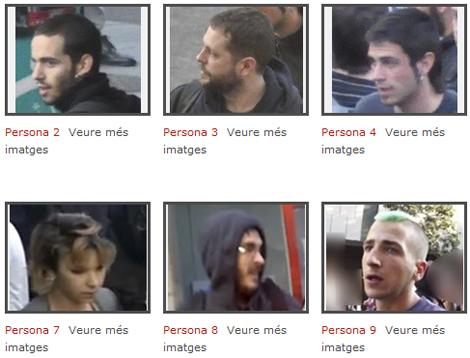 Algunos de los sospechosos expuestos por el Govern.