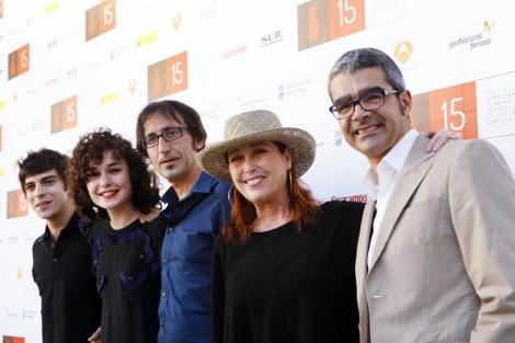El equipo de la película 'Ali', en la que participa Verónica Forqué. | Efe