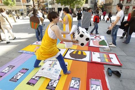 Una de las actividades realizadas en el último Día de la Visibilidad Lésbica. | Sergio González