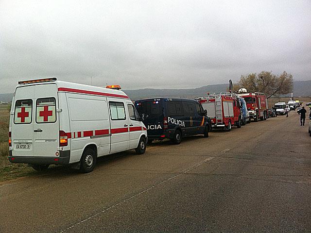 Bomberos, Policía y servicios sanitarios en el lugar del accidente. | Pablo Herraiz