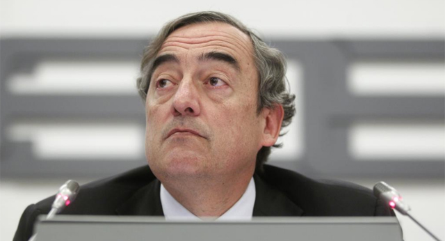 El presidente de la CEOE, Juan Rosell.   Sergio González