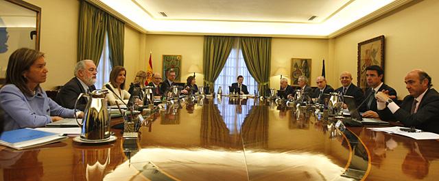 El Gobierno, en el primer Consejo de Ministros. | Alberto Cuéllar