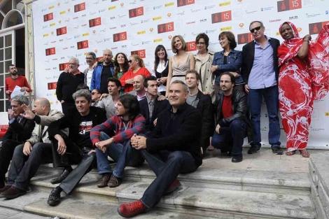 Premiados en la decimoquinta edición del Festival de Cine de Málaga.   N. Alcalá