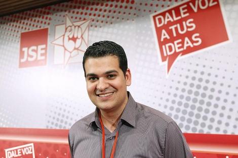 Nino Torre, en el Congreso en el que fue elegido como secretario general de JSE.   EL MUNDO