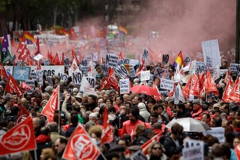 Aspecto de la manifestación que en Madrid arrancó en la Plaza de Neptuno. | Alberto di Lolli