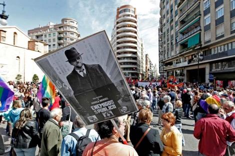 Inicio de la manifestación frente a la Plaza de San Agustín. | Efe