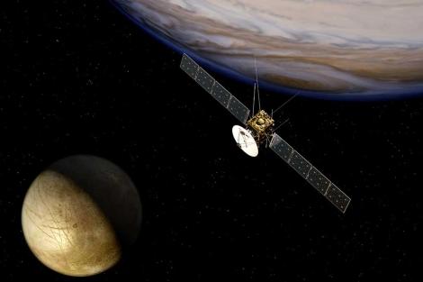 Recreación artística de la misión JUICE. | ESA