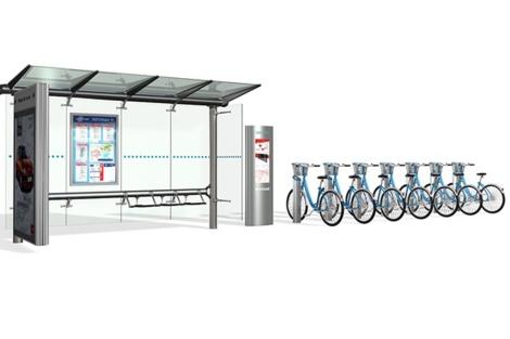 Recreación de las estaciones con bicis de alquiler. | ELMUNDO.es
