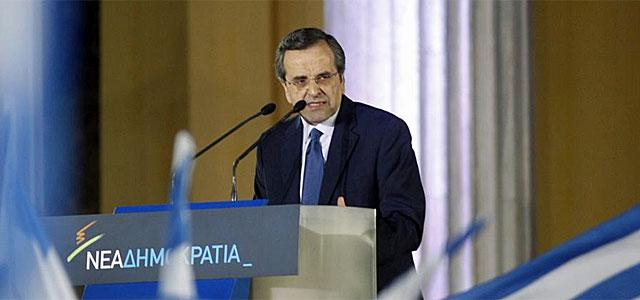 Antonis Samaras, en un acto electoral.| Efe