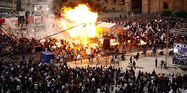Momento de la explosión. | Reuters