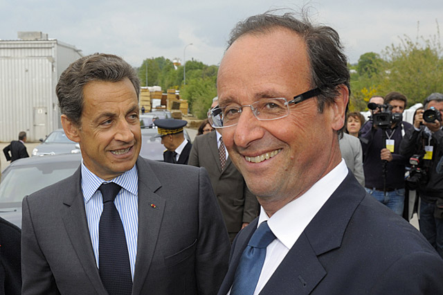 Sarkozy y Hollande. | Foto: Reuters