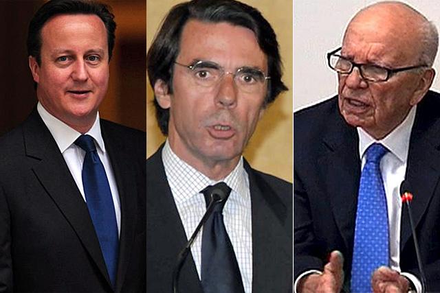 Cameron, Aznar y Murdoch.