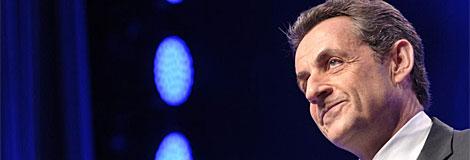 Nicolas Sarkozy, cabizbajo por la derrota electoral.| Afp