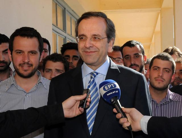 El líder conservador Antonis Samarás.| Afp